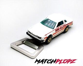DATSUN 200 SX Bottle Opener Toy Car from MATCHPLOPZ vintage Retro Gift Birthday Present Friend Man white