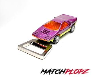 Bertone Carabo Bottle Opener Toy Car from MATCHPLOPZ vintage Retro Gift Birthday Present Friend Man purple
