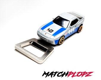 PORSCHE 944 Turbo Bottle Opener Toy Car from MATCHPLOPZ vintage Retro Gift Birthday Present Friend Man silver