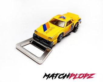 CHEVY Pro Stocker Bottle Opener Toy Car from MATCHPLOPZ vintage Retro Gift Birthday Present Friend Man yellow