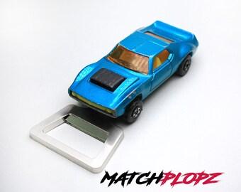 AMX Javelin Bottle Opener Toy Car from MATCHPLOPZ vintage Retro Gift Birthday Present Friend Man blue