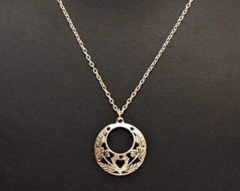 Athizay Women Fashion Pendant Black Stone Locket with Metal Chain 16 inches Long.