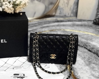 e1e128c924ac Chanel Black quilted Caviar Chanel Classic Small Double Flap bag