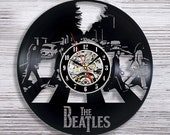 The Beatles Abbey Road Vinyl Record LP Wall Clock - Home Art Decor Christmas Birthday Wedding Valentines Day Gift For Boys Girls Him Her