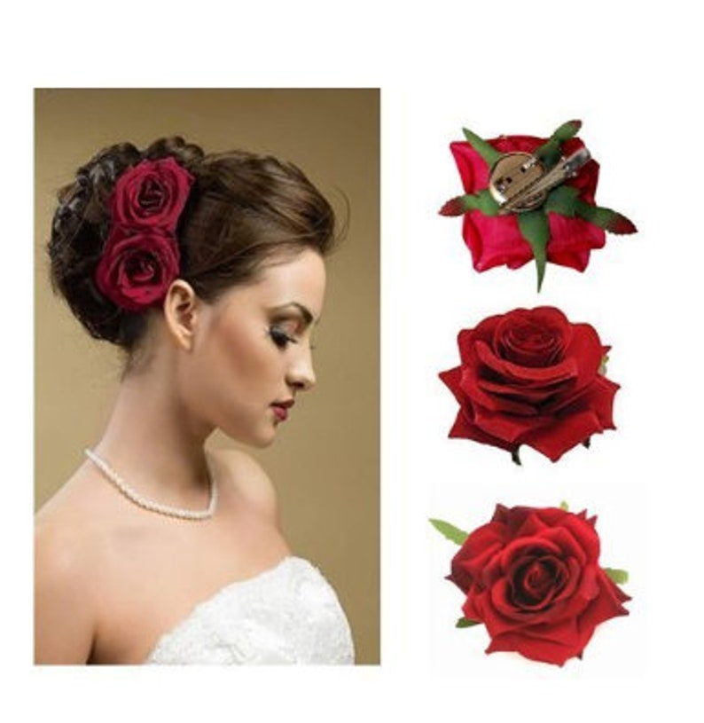 Set Of 2 for the Beautiful Bride for Wedding Function Rose Hair Pin