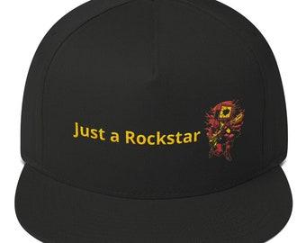 57c513be Just a Rockstar Flat Bill Cap