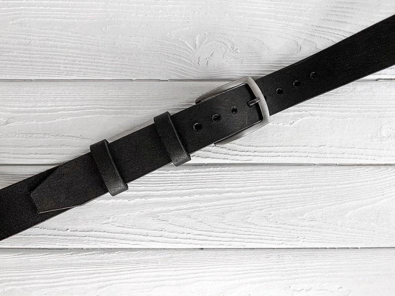leather anniversary gift wide leather belt for men men/'s belt Step Mom gift 1 12/'/' wide Black Mens leather belt custom leather belt