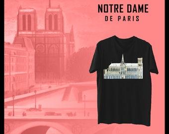 92a69660eefd2 Notre Dame cathédrale monde monument T-shirt