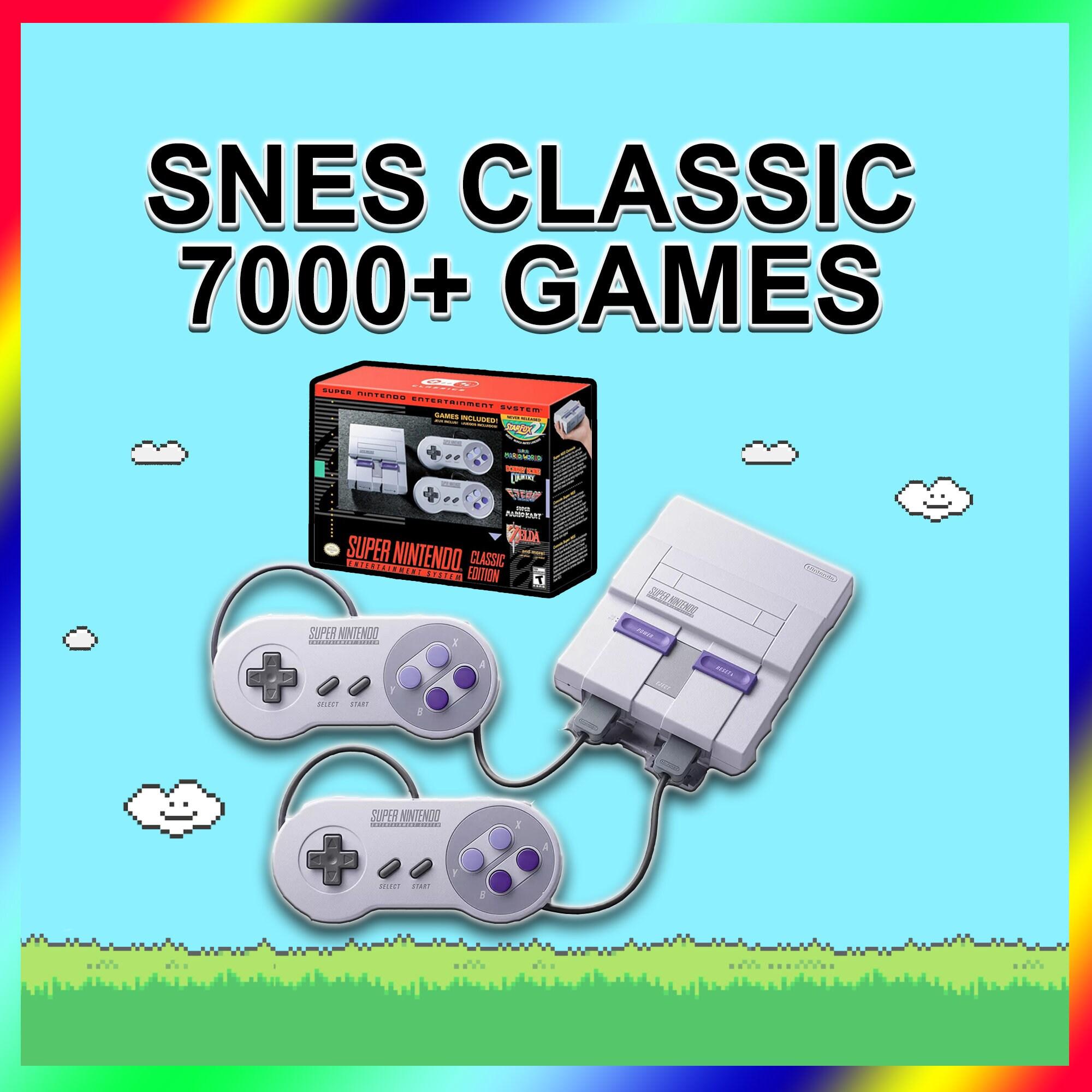 SNES Classic Modded 7000+ Games 15 Systems - Super Nintendo Classic Edition  Mini Retro Gaming System (Sega, Atari, Arcade, Game Boy, NES)
