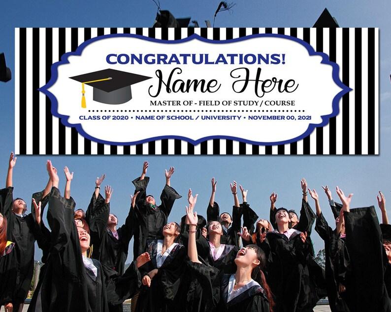 Outdoor Banner for Graduation Class of 2021 Graduation Banner Personalized Graduation Banner Congrats Graduation Banner