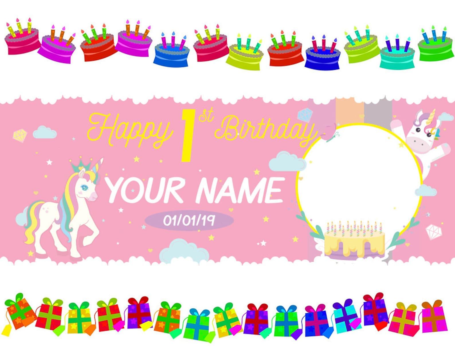 Unicorn Party Backdrops 1.5×4 Ft