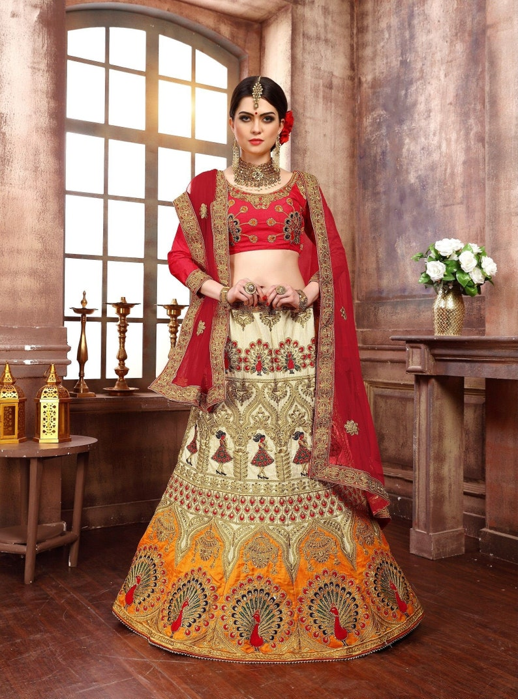 Multi Color Latest Party Wear Designer Wedding Lehenga Custom Made Dresses From India Crop Top Lehenga