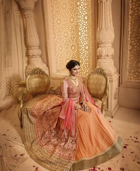 Latest Party Wear Designer Wedding Lehenga Crop Top Lehenga Etsy