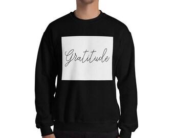 accecad14af Gratitude sweatshirt