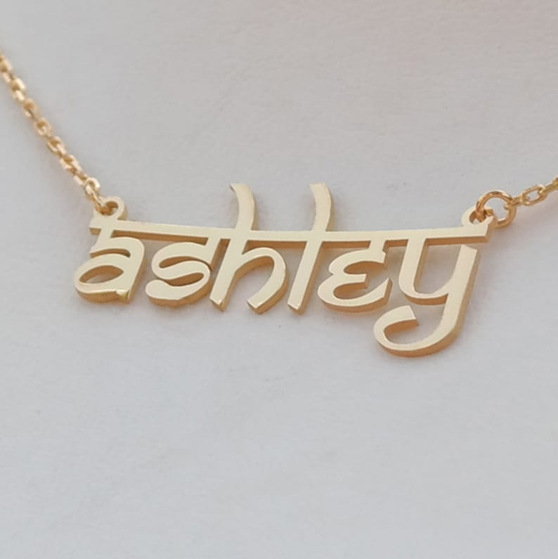 114ac18dc58b1 Personalized Sterling Silver Name Necklace - Hindi Name Necklace - Hindi  Necklace - Handmade Name Necklace - Custom Hindu Jewelry - Gift