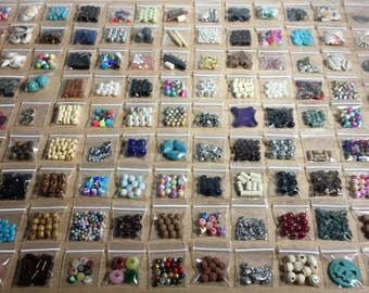25 Bags of New Assorted Beads | Large Lot of Quality Beads | Jewelry Making Supplies | DIY Bead & Craft Supplies