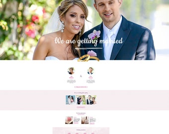 Wedding website design | Etsy