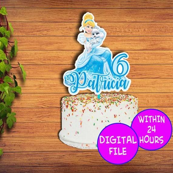 Strange Princess Cinderella Cake Topper Cinderella Princess Birthday Etsy Funny Birthday Cards Online Overcheapnameinfo