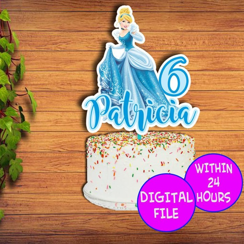 Miraculous Princess Cinderella Cake Topper Cinderella Princess Birthday Etsy Birthday Cards Printable Inklcafe Filternl
