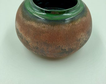 Copper and green decorative bud vase