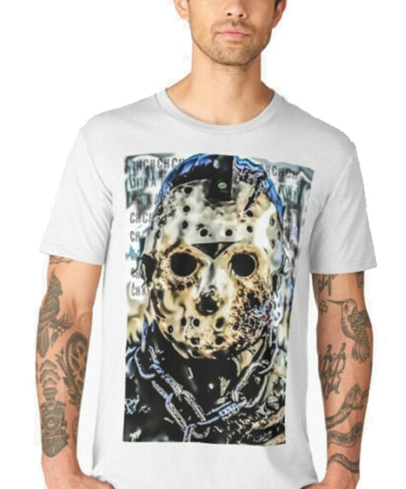 jason voorhees tshirt friday 13th art print cult horror film camp t shirt