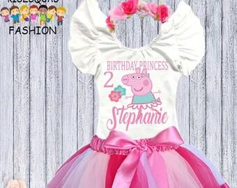 8a33ec1b574f Peppa Pig Birthday outfit, Peppa Pig birthday shirt, Peppa Pig birthday  invitation, Peppa birthday shirt, Peppa Pig dress, Peppa pig tutu