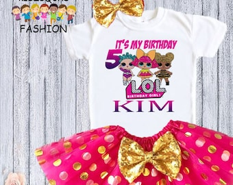 ec4ce617 LOL Dolls Inspired Birthday Outfit, Inspired LOL Dolls Tutu, Inspired lol  shirt, Inspired Lol Dolls Dress, Inspired Lol Dolls Birthday Shirt