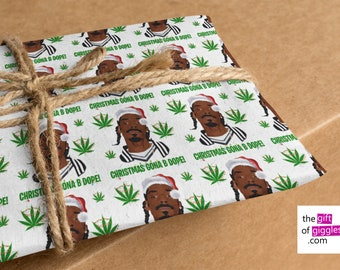 Inappropriately Funny Stoners 420 Stoners Advisory Weed Related Birthday Christmas or Any Gift Wrapping Paper