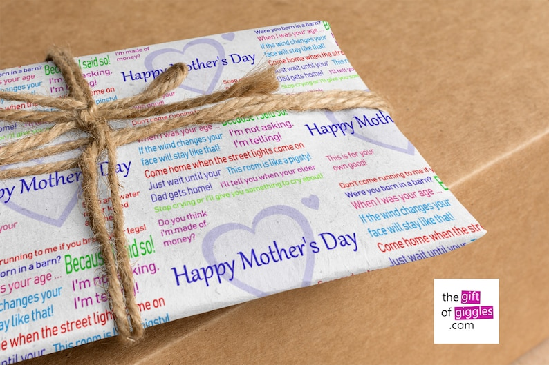 All The things She Said Inappropriately Funny Mother/'s Day Gift Wrapping Paper