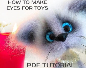 PDF Eyes for Toys Tutorial, How To Make Glass Safety Eyes for Crochet and Knitted Animals