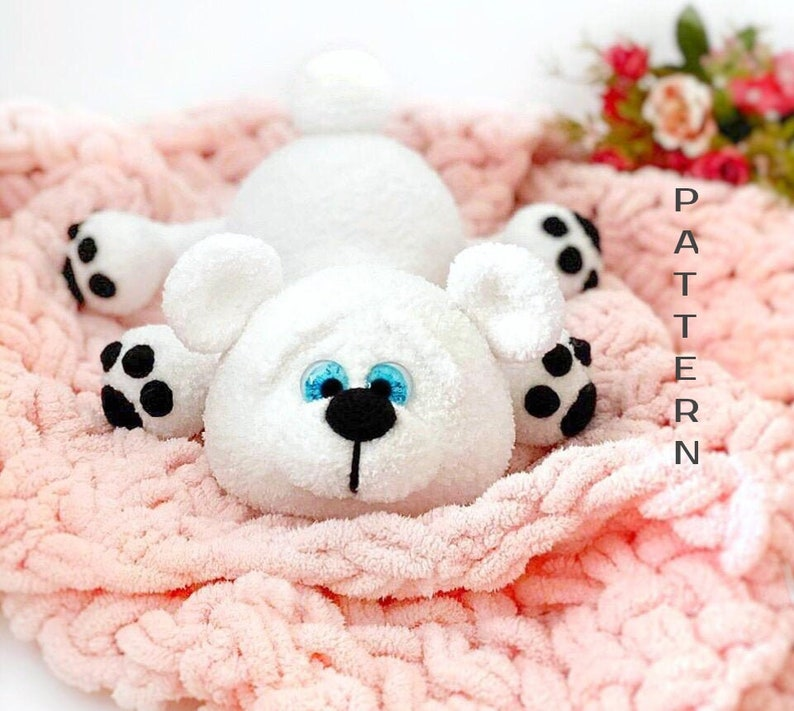 Knitting Bear Toy Amigurumi Pattern with Pictures PDF image 0