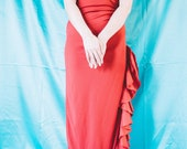 Red Ruffle Flamenco-Style Dress