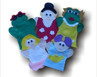 Louis la grenouille, Louis la grenouille puppets, AIM Language , AIM Language Learning puppets, Louis,Girl Frog,Genie,Ballerina,Singer