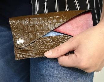 438b0ff00a Portafoglio da donna, mini organizer in pelle stampata, Handbag