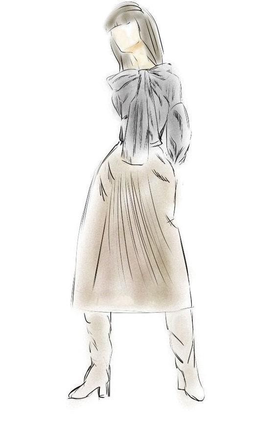 Custom Fashion Sketches Custom Minimalist Art Minimalist Etsy