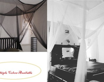 canopy bed curtains etsy