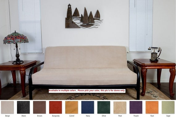 Octorose Full Size Bonded Micro Suede Futon Mattress Cover for Sofa Bed