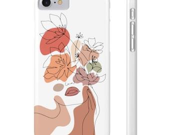 Flower Lady Slim Phone Cases