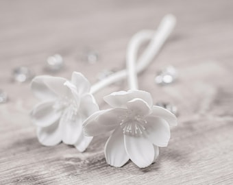White Artificial Flowers/Faux Floral - White Peony