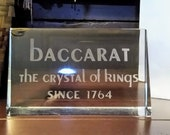 Rare Vintage Baccarat Dealer Store Counter Display quot The Crystal of Kings Since 1764 quot