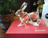 ULTRA RARE Large Baccarat Rabbit- Mirage High Rollers Exclusive MINT Condition With Box