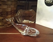 MINT Baccarat Crystal North Pacific Blue Whale- Signed French Crystal