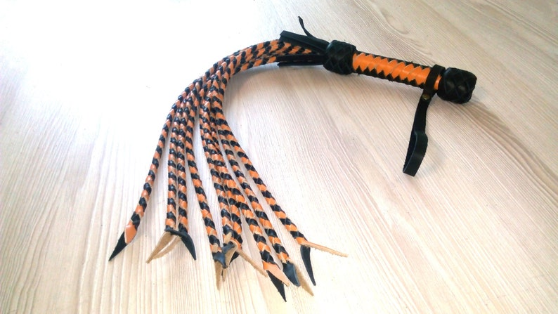 Leather Cat Flogger Whip  cat o nine adult toy cat o five bdsm impact play fetish cat of nine cat of 9 tails valentines day gift for him