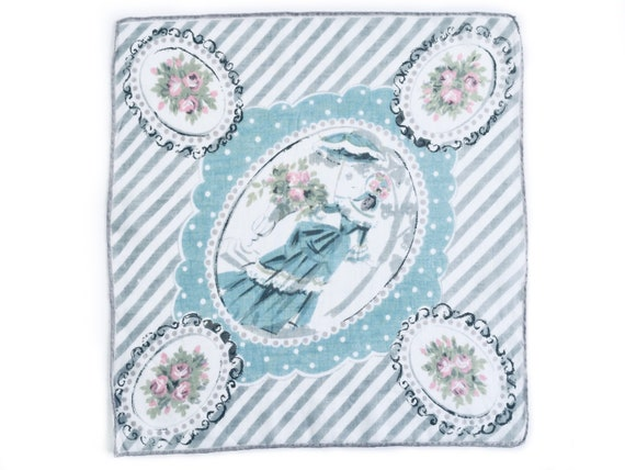 Vintage handkerchief, something blue, something ol