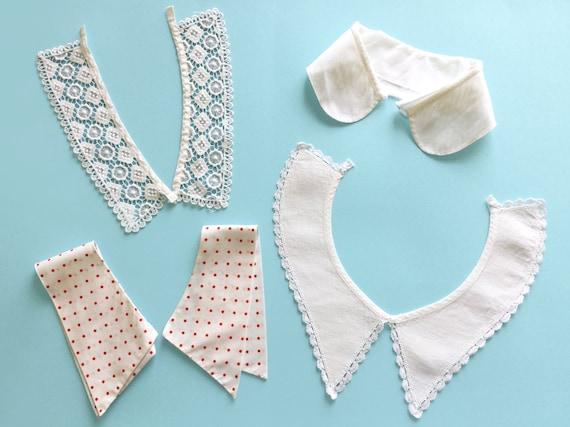 Vintage white collars - cotton, lace, polka dot or