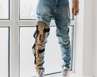 9cec6aad5baf8 Spliced Custom Techwear Jeans