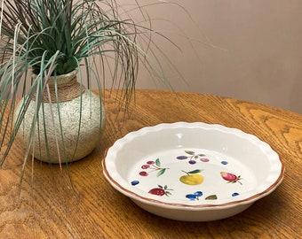 Longaberger Ceramic Fruit Medley Berry Pie Plate.  By Longaberger Pottery
