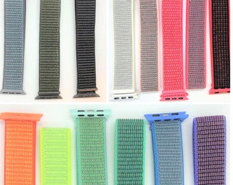 Nylon Sport Loop band for Apple Watch - 38mm 40mm 42mm 44mm - All Series (1 - 6 & SE)