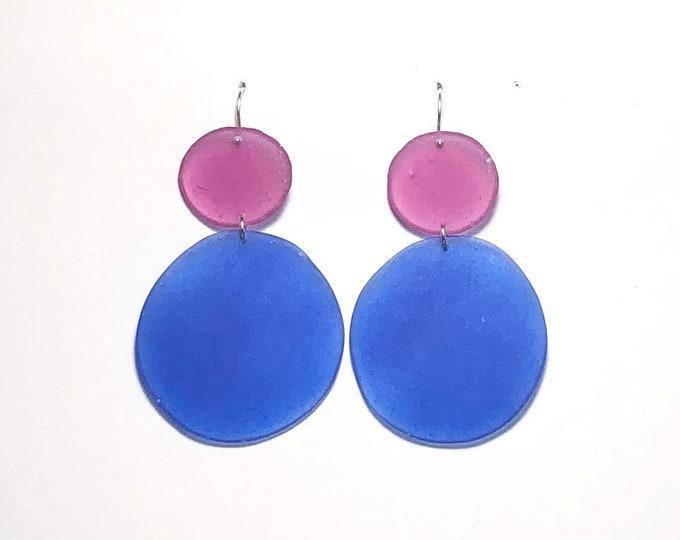 Colorblock Resin Earrings