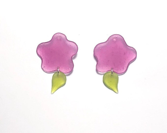 Colorblock Resin Earrings